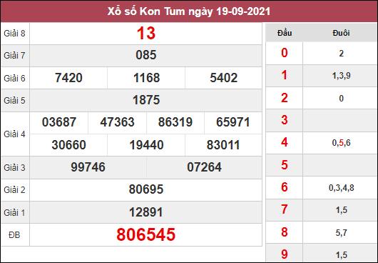 Dự đoán xổ số Kon Tum ngày 26/9/2021 dựa trên kết quả kì trước